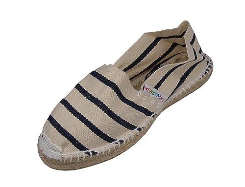 Alpargatus - Alpargata Plana Rayas Marino, Unisex-niños: Amazon.es: Zapatos y complementos