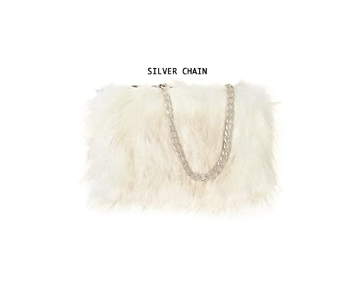4675edc43f04 Designer Soft Fluffy Feather Faux Fur Clutch Bag Purse Chain Runway  (Black)  Amazon.co.uk  Shoes   Bags