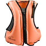 Rrtizan Adult Inflatable Swim Vest Life Jacket For Snorkeling,Suitable For 80-220lbs