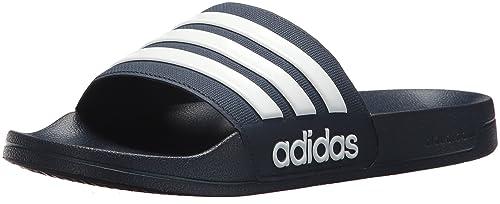 adidas Herren Shower Adilette, Dusche, WhiteScarlet: Amazon