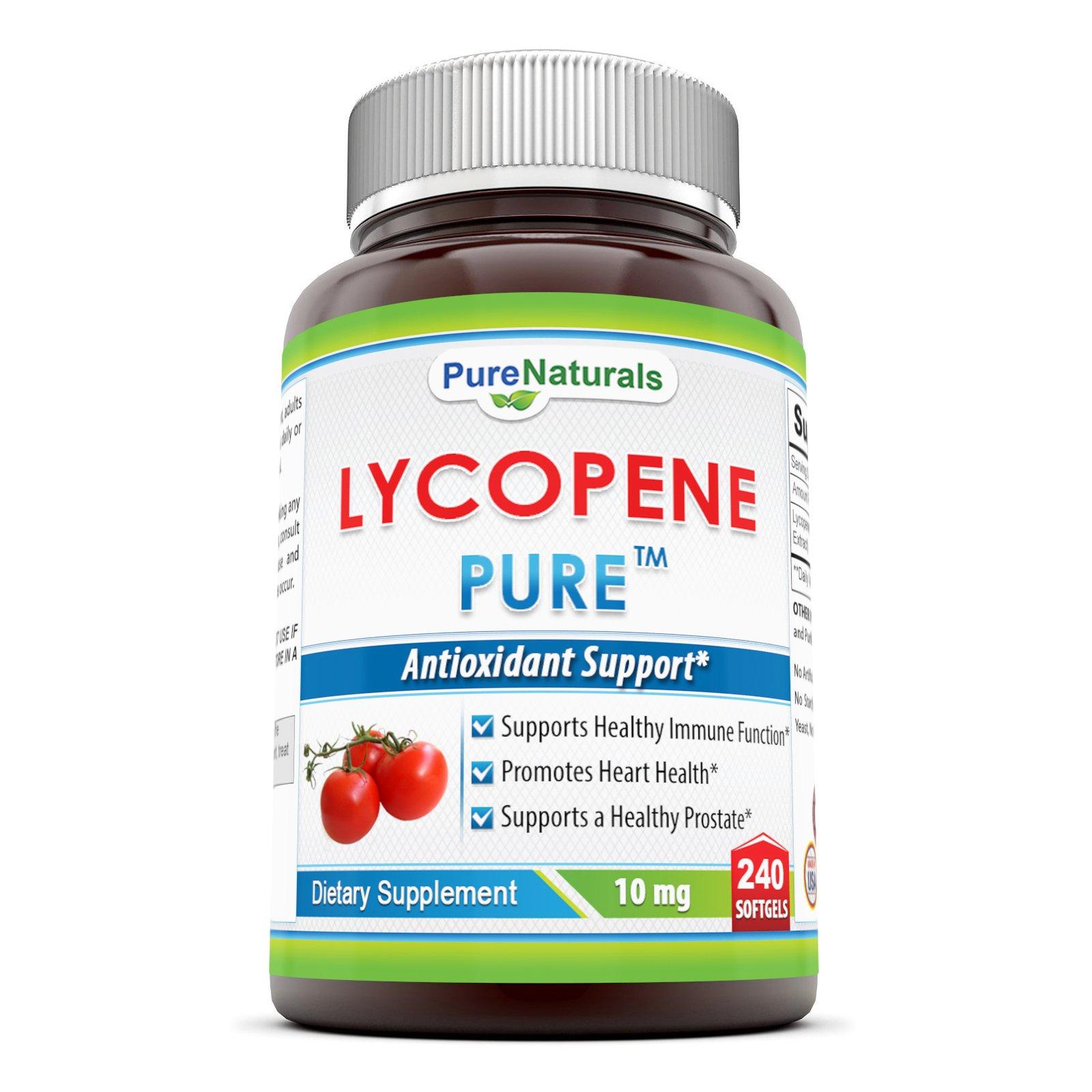 Pure Naturals lycopene Softgels, 10 mg, 240 Count
