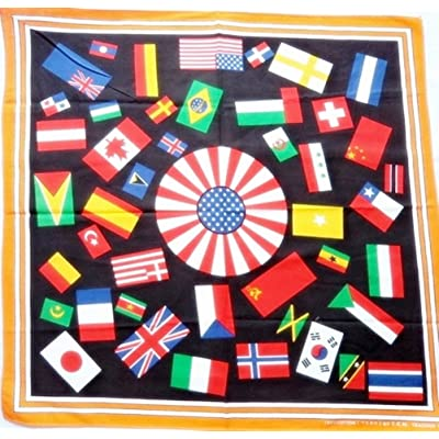 1x 20 inches Cotton Nation Flags - Orange Head Neck Bandana Scarf Handkerchief
