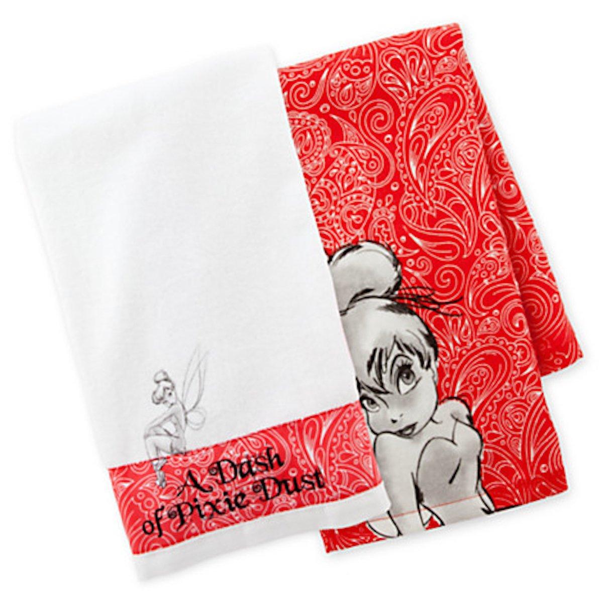 Amazon.com: Disney Parks Tinkerbell Kitchen Dish Towel Set of 2 ...