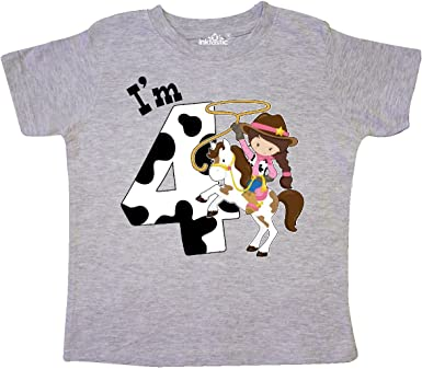 Cowgirl on Brown Horse inktastic Cowboy Girl Toddler Long Sleeve T-Shirt
