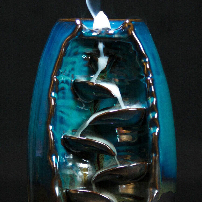 2019 Mountain River Handicraft Incense Holder Backflow Ceramic Burner Censer Holder by Beette (Image #6)