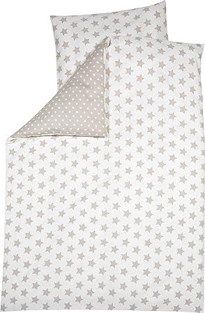 Alvi Bettwäsche Standard Streifenbär beige 100x135 cm 766-6 NEU