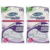 Dentek Comfort Clean Easy Reach Floss Picks | Fresh Mint 75-Count | 2-Pack