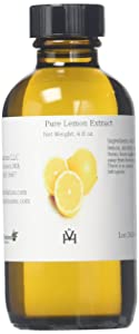 OliveNation Pure Lemon Extract for Baking, Tart Lemony Flavor for Cakes, Cookies, Icing, Filling, Terpeneless, PG Free, Non-GMO, Gluten Free, Kosher, Vegan - 4 ounces