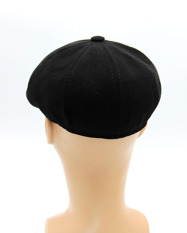 4bb3740024dc72 Amazon.com: Hat type Newsboy Cap or Jay Gatsby, Newsboy Hat, Men's Newsboy  Cap in Black Cotton, Black Cotton Flat Cap, Men's Cap.: Handmade