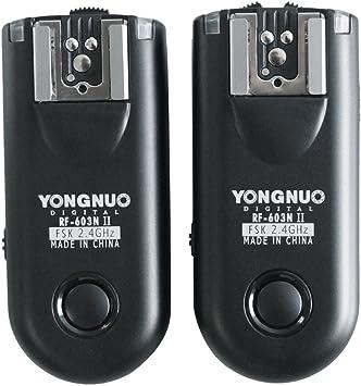 Yongnuo RF-603 N1 2.4GHz Wireless Flash Trigger//Wireless Shutter Release Transceiver Kit for Nikon D1//D2//D3//D200//D300//D700