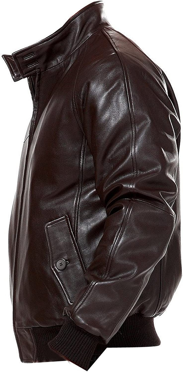 Men/'s Bomber Style Leather Jackets with Size Customization Chase Squad Brown Bomber Leather Jackets Men