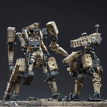 MMZ Figura de acción Militar del ejército, de Acero del Hueso Ataque de Mecha X18 Pequeña Escala 12cm Ataque Mech Figuras de acción Colección Moderna Modelo Militar: Amazon.es: Juguetes y juegos
