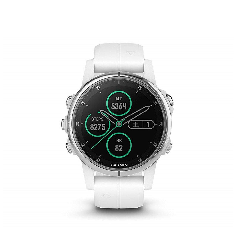 GARMIN(ガーミン) fenix 5s Plus Sapphire Black White 音楽再生機能 マルチスポーツ型GPSウォッチ サファイアレンズ【日本正規品】 B07DV58RW9 ホワイト ホワイト