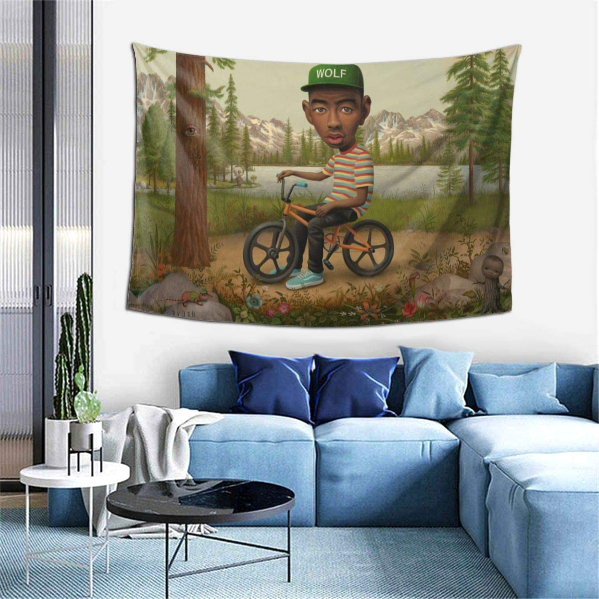 Amazon Com Kevlin Shop Tapestry Wall Hanging Tyler The Creator Wall Tapestry With Art Home Decorations For Living Room Bedroom Dorm Decor In 60x40 Inch Home Kitchen