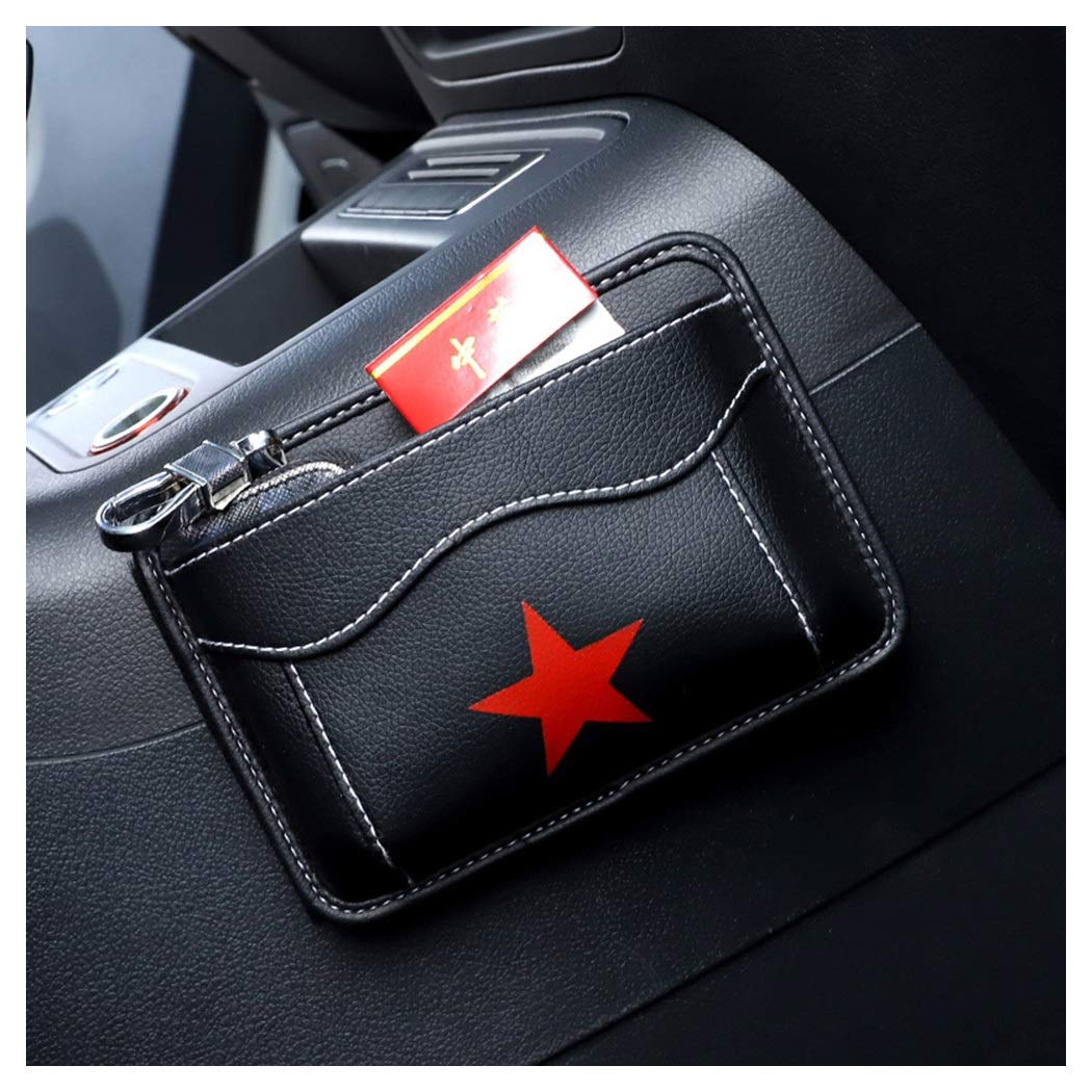 ZYLE-Storage Bag Car Seat Storage Bag Multi-Function Storage Bag Leather Material (Color : A)