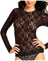 Hanky Panky Women's Signature Lace Unlined Long Sleeve Top