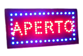 takestop® Letrero Luminosa LED escrita Abierto Marco Tiendas ...