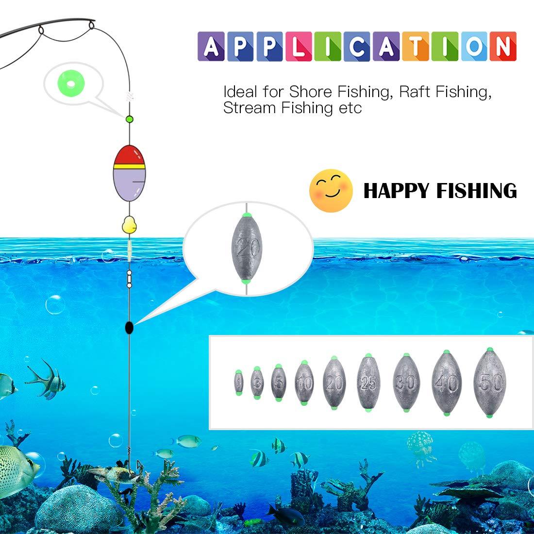 Ball lead hole Lead Lead Fishing Lead Fishing 12g 25g 30g 40g
