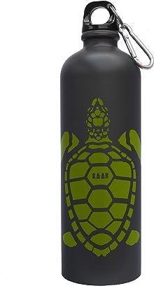 Botella KA-AB de acero inoxidable para agua Diseño Tortuga Verde capacidad 750ml