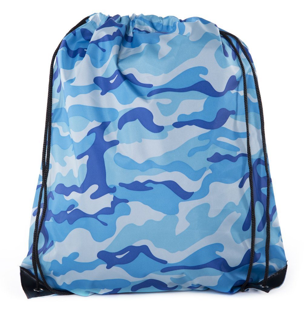 Mato & Hash Camo Drawstring Backpack| Camouflage Party Supplies for Birthdays, Outdoors, and Camping