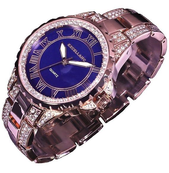 Excellanc llanc Reloj mujer RELOJ Reloj de pulsera Azul Rojo Rose Gold Colores R29