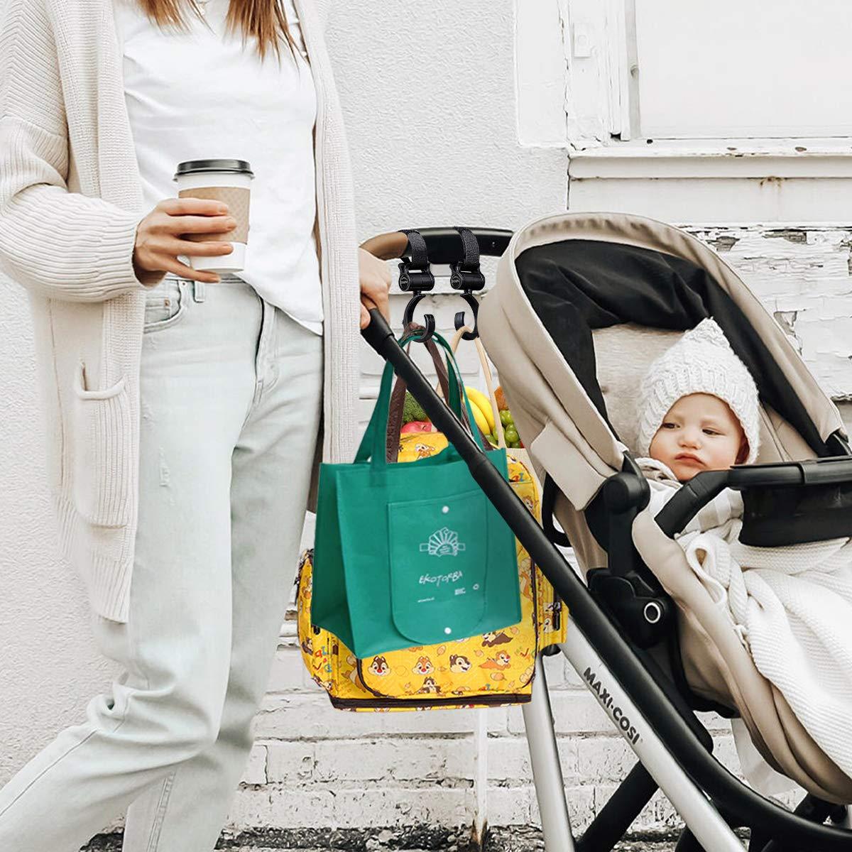 Amazon.com: Ganchos para cochecito de bebé, prácticos ...