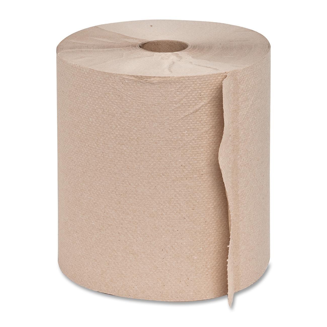 Genuine Joe GJO22600 Hard Wound Roll Towel, 800' Length x 7-8/9'' Width, Natural (Case of 6)