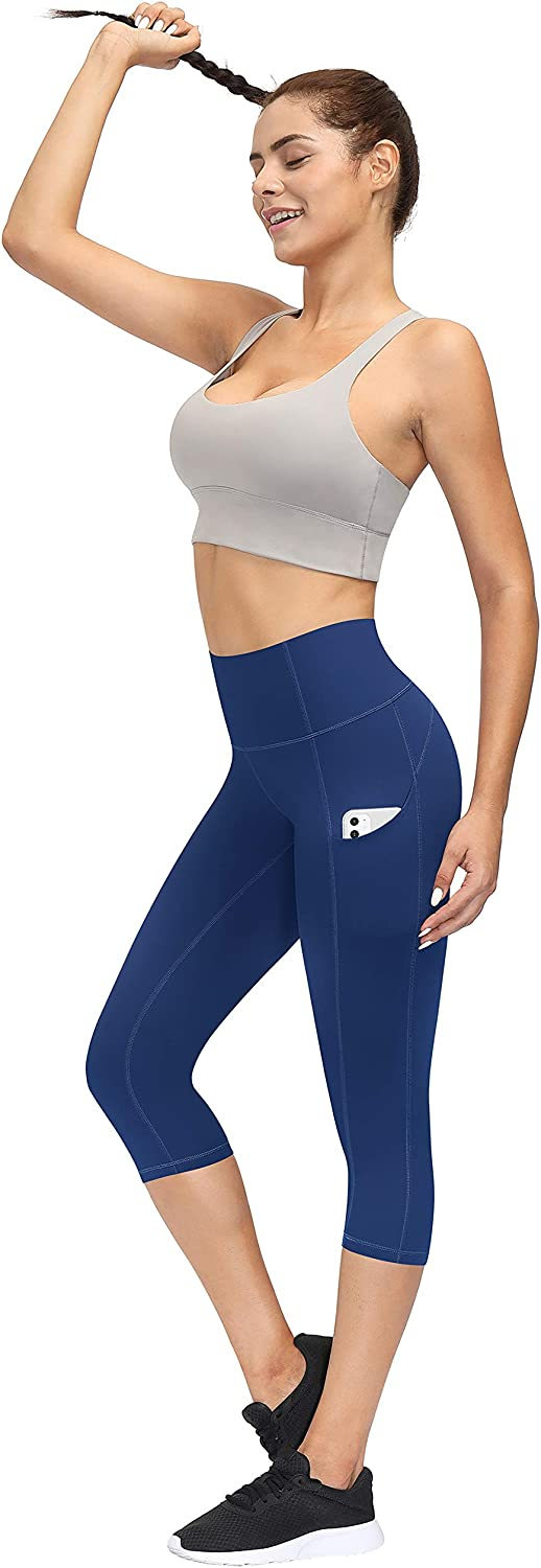 TQD High Waist Yoga Pants,Workout/Leggings/with Pockets Tummy Control 4 Ways Stretch Yoga Pants for Women