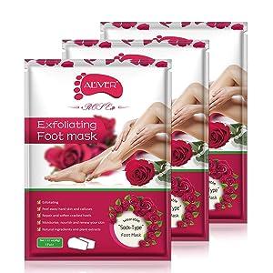 Foot Peel Mask 3 Pack, Exfoliating Foot Masks, Natural Exfoliator for Dry Dead Skin, Callus, Repair Rough Heels for Men Women