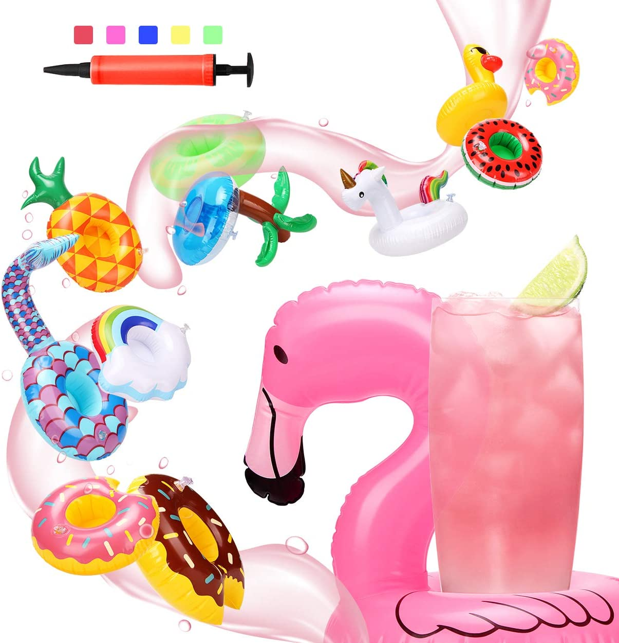 NEW Inflatable Hunk Drink Holder Cooler Holds Your Drink In the Pool Gag Gift