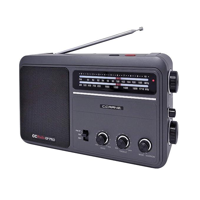 Amazon.com: C. Crane CCRadio - EP PRO AM FM Radio portátil ...