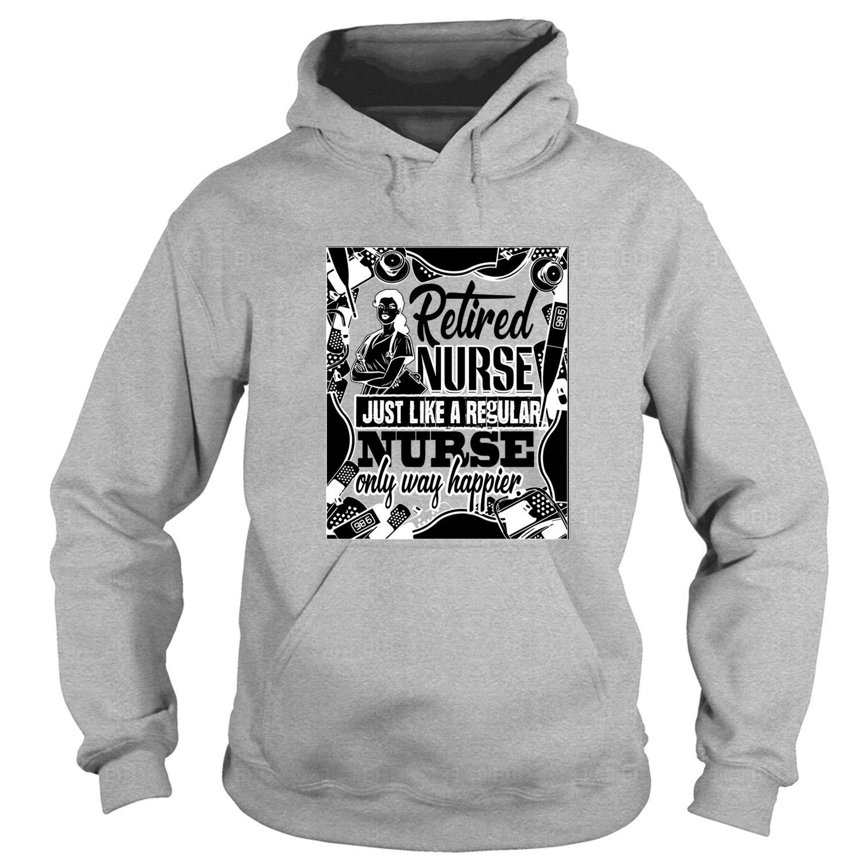 2686344d28866 Amazon.com: CRZTEE Gift for Retired Nurse Hoodies, Retired Nurse T Shirt:  Clothing