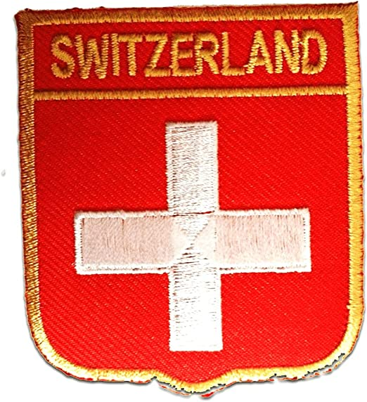 Parches - Suiza bandera - rojo - 6,3x7,3cm - termoadhesivos ...