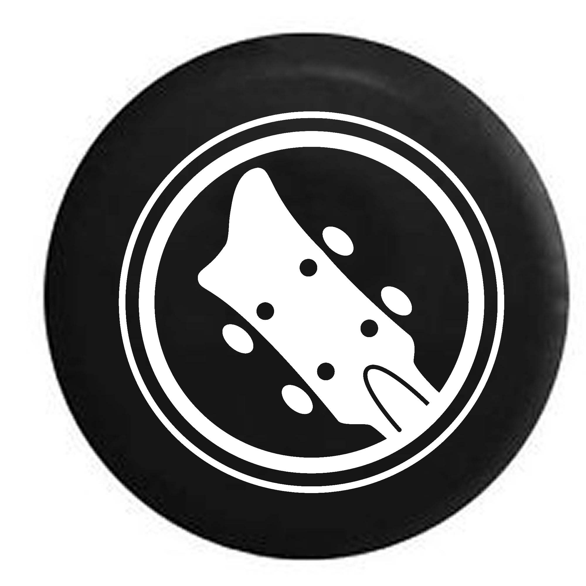 Acoustic Guitar Music Lover RV Spare Tire Cover OEM Vinyl Black 32 in by Pike Outdoors