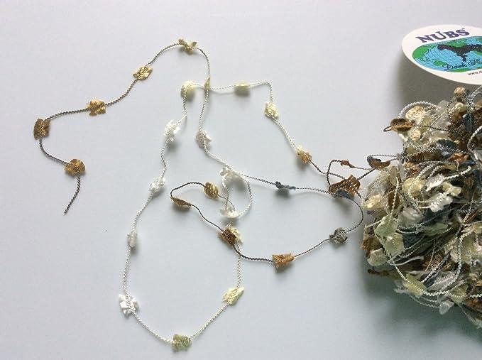 Bronze Hand Crocheted Trellis Ribbon Necklace  #66