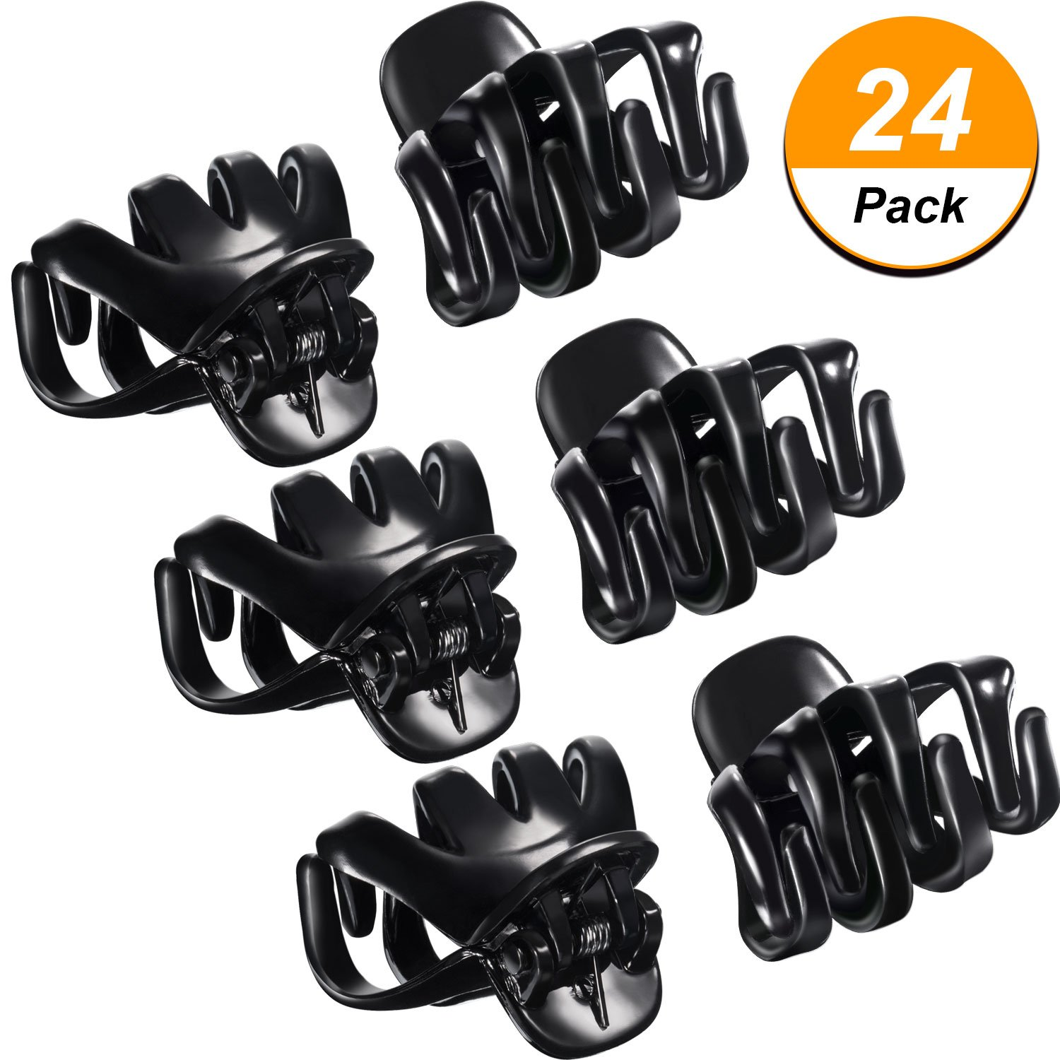 24 Packung 3 cm Mini Grip Octopus Clip Spinne Kiefer Haar Klaue Clips (Braun) Bememo