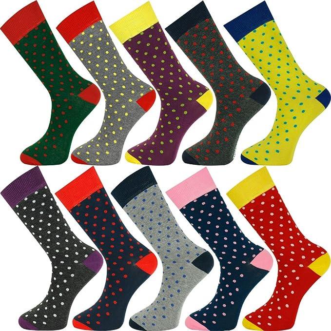 My Socks - Medias de fútbol - Lunares - para hombre 10 Pairs Bulk Buy 01: Amazon.es: Ropa y accesorios