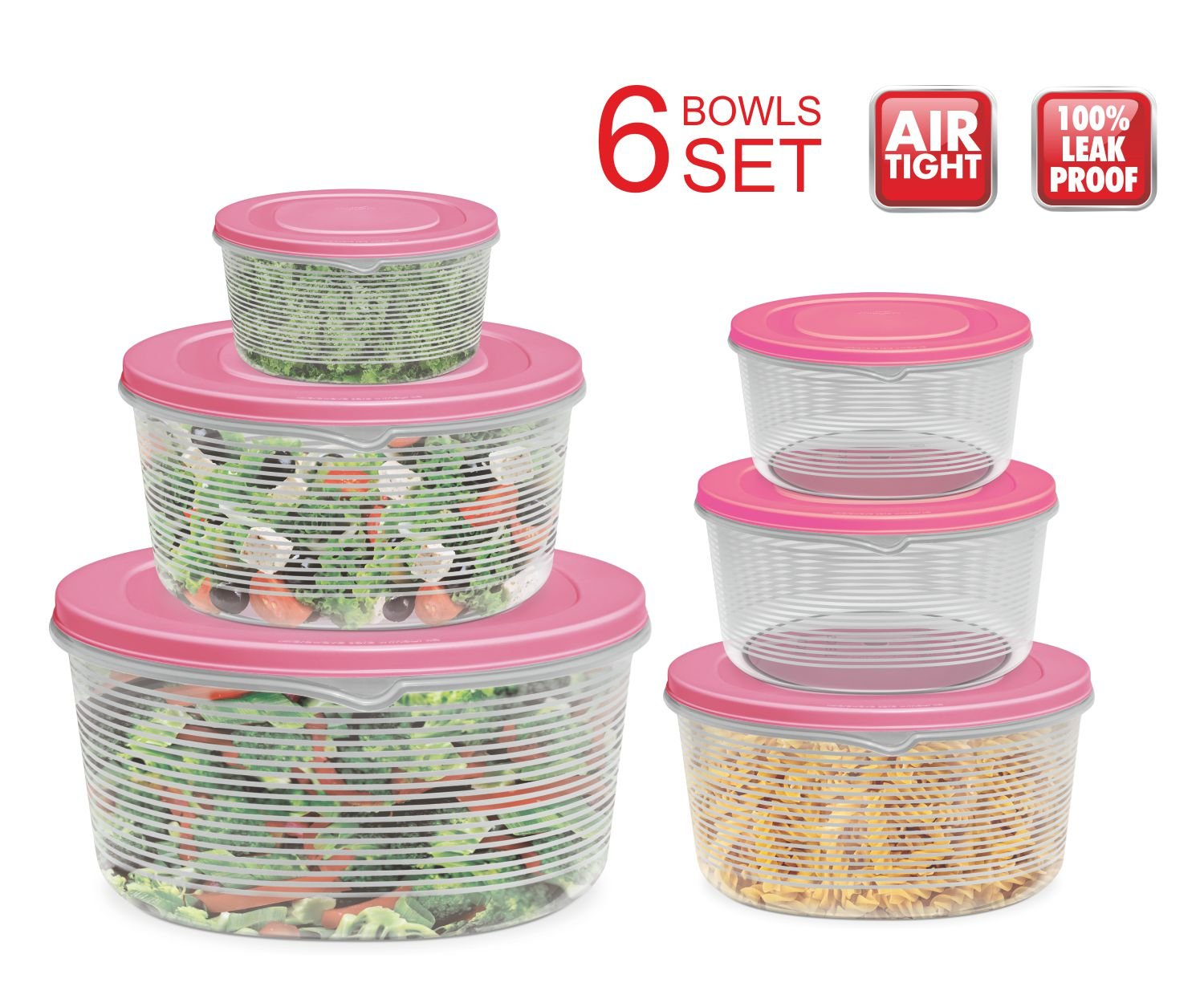 Mixing Bowl Set with Lids Kitchen Food Storage Containers Plastic