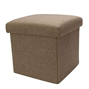 Scrafts Dark Green Square Small Plain Cloth Seater for Home Decor, Living Room Decor and Gifts, Size: LWH(Inches)- 9.5x9.5x9