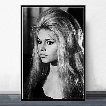 Brigitte Bardot Model Poster Canvas Art Wall Home Decor No Frame