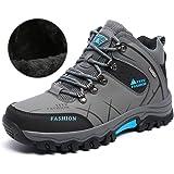 「UAME」シューズ ジャングル モック メンズ トレッキングシューズ 暖かい靴 登山遠足用 防滑