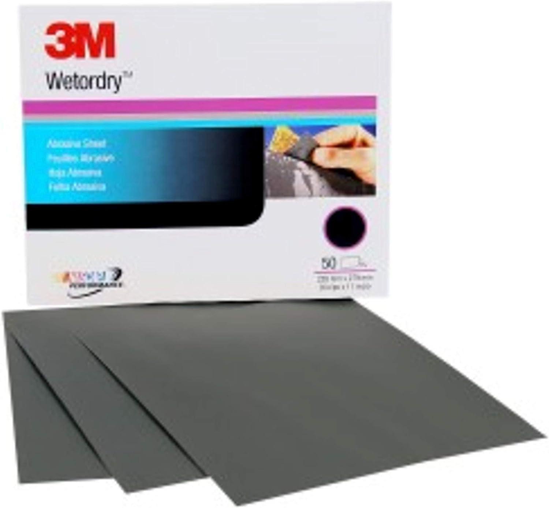 3M Wetordry Abrasive Sheet, 02020, 2000, 9 in x 11 in, 50 sheets per carton 71I51HXdCmL