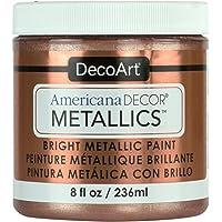 DecoArt Decoart Americana Decor Metallics 8oz Rose Gold, DECADMTL-36.3, Rose Gold, 1