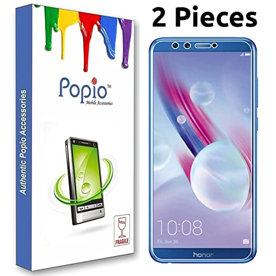 meet 4fbb2 104de POPIO Tempered Glass Screen Protector For Honor 9 Lite (Transparent) Full  Screen Coverage (Except Edges) With Easy Installation Kit (Pack of 2)