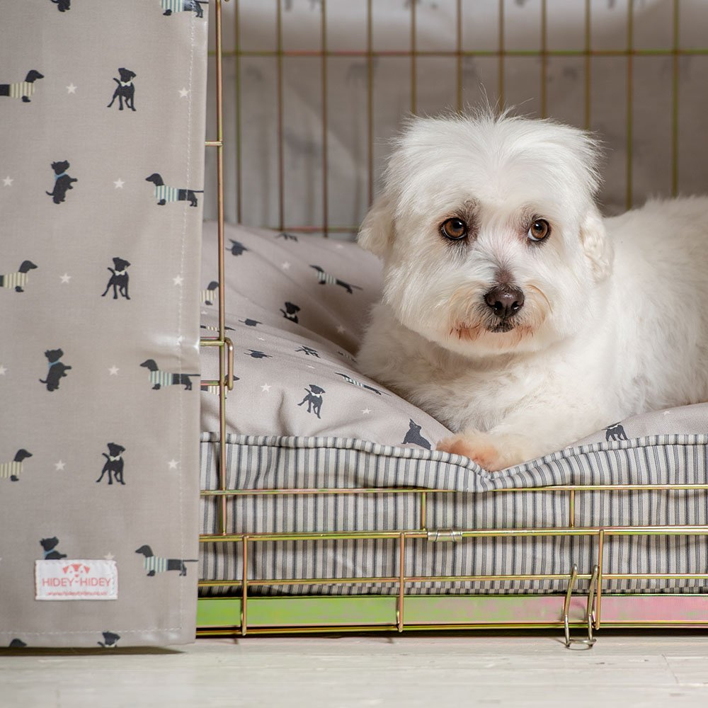 Cubierta para jaula de perro de tela de hule, con diseño de perros cosmopolitas, de Hidey-Hidey: Amazon.es: Productos para mascotas
