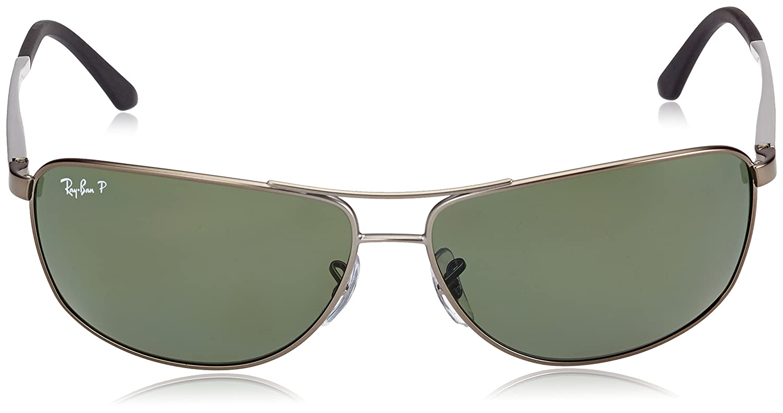 287e4242202 Amazon.com  Ray-Ban Men s Rb3506 RB3506 Polarized Wrap Sunglasses ...