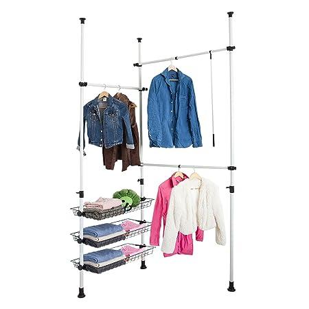 Incroyable SoBuy® Telescopic Wardrobe Organiser, Hanging Rail, Clothes Rack, Storage  Shelving, FRG34