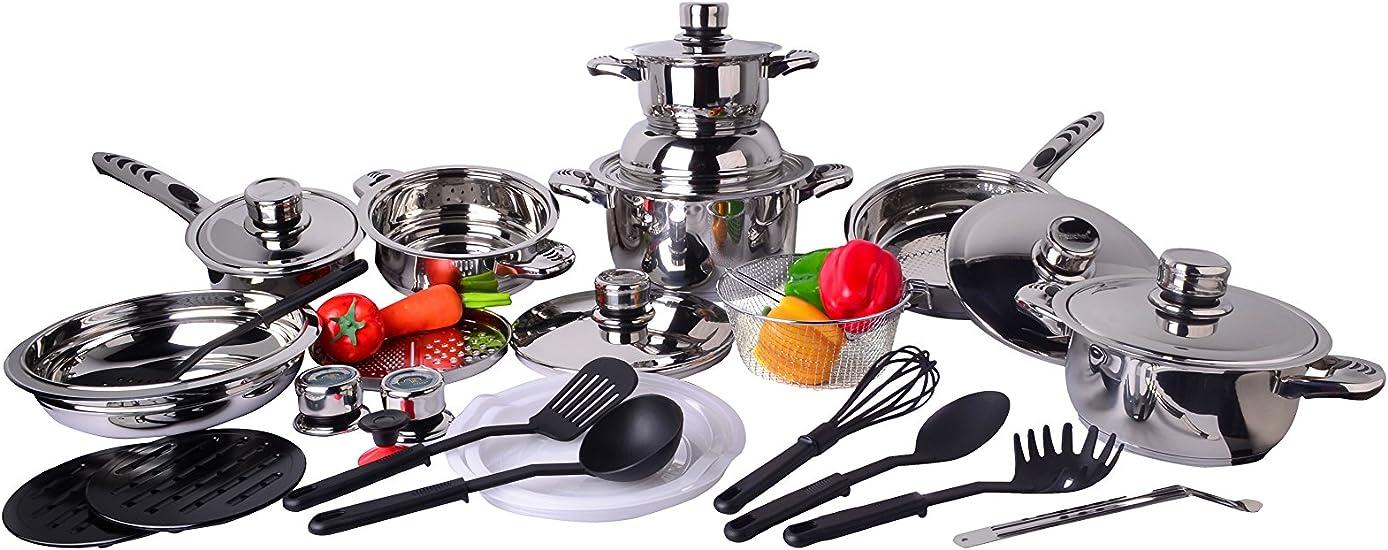 Compra NEWCOOK Batería de Cocina 27 Piezas NL4 en Amazon.es