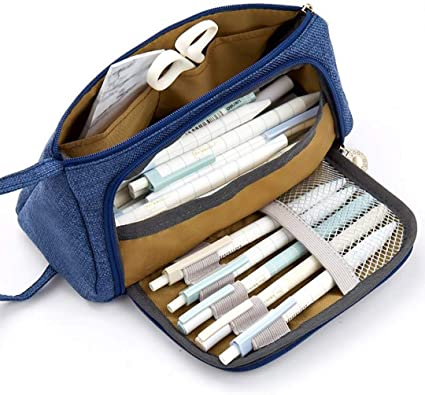 Vuelta al cole pencil case regalos originales para Chicas Chicos Niños estuches escolares grandes poner en tu mochila escolar bonito Utilizado para bolígrafos,maquillaje Set De Papelería estuche: Amazon.es: Oficina y papelería