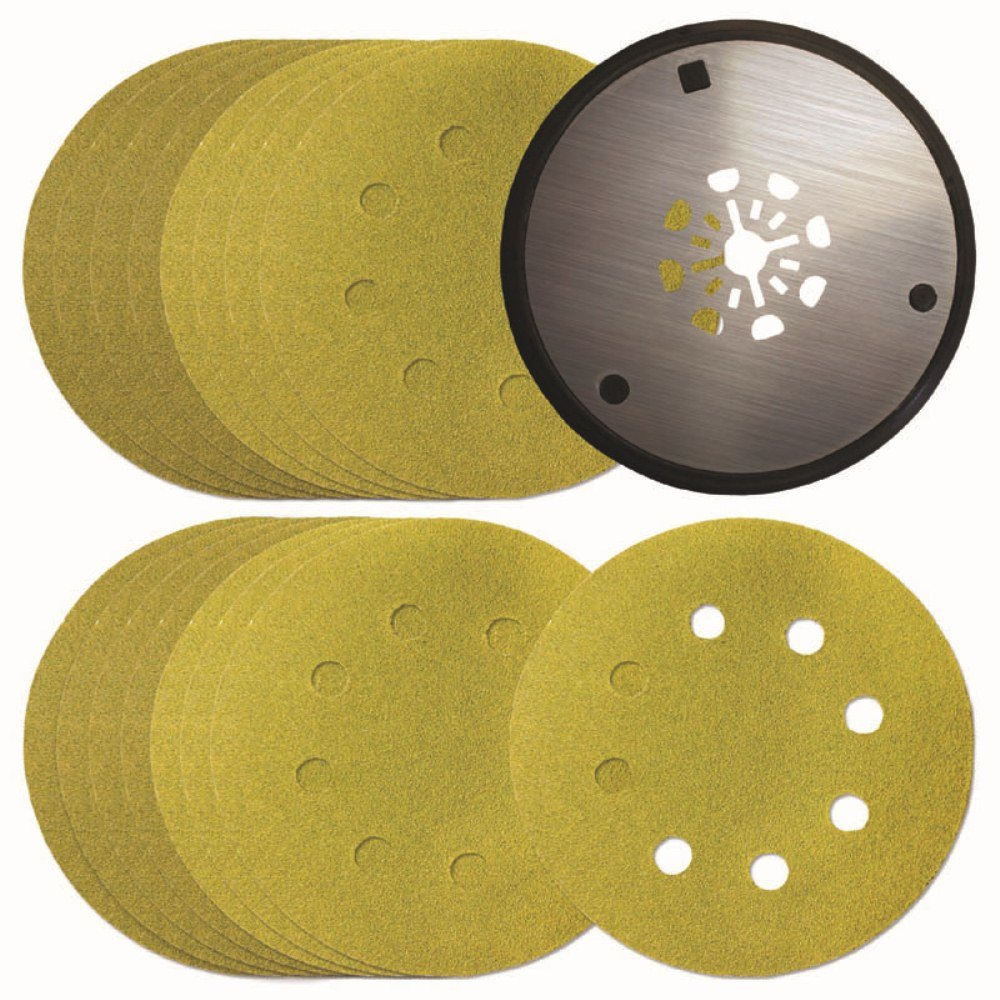 Imperial Blades MMRSPK 4-Inch Round Oscillating Sanding Pad with Variety Pack of Sandpapers, 17-Piece